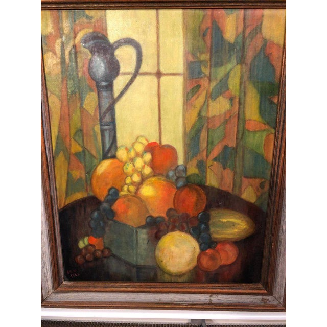 Modern Vintage Mid-Century Still Life on Board Painting For Sale - Image 3 of 13