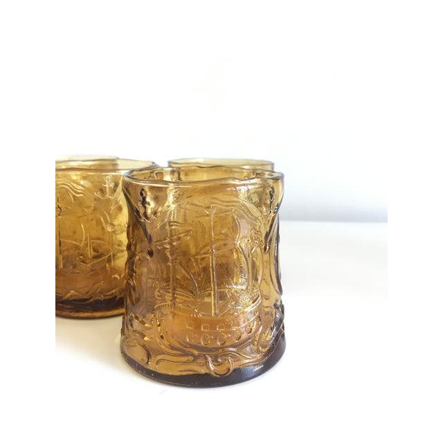 Vintage Italian Amber Glass Tumblers - Set of 5 - Image 6 of 9