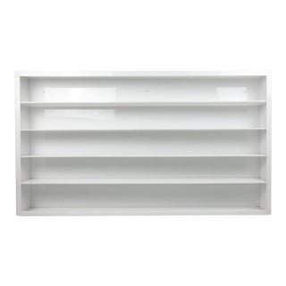 Vintage White Acrylic Shelving For Sale