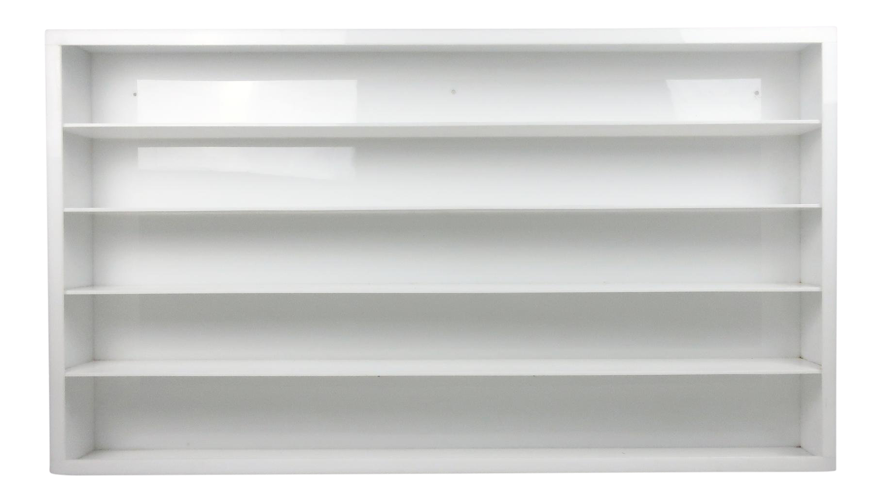 Vintage White Acrylic Shelving