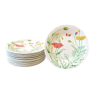 French Gien Desert/Salad Plates - Set of 12 For Sale