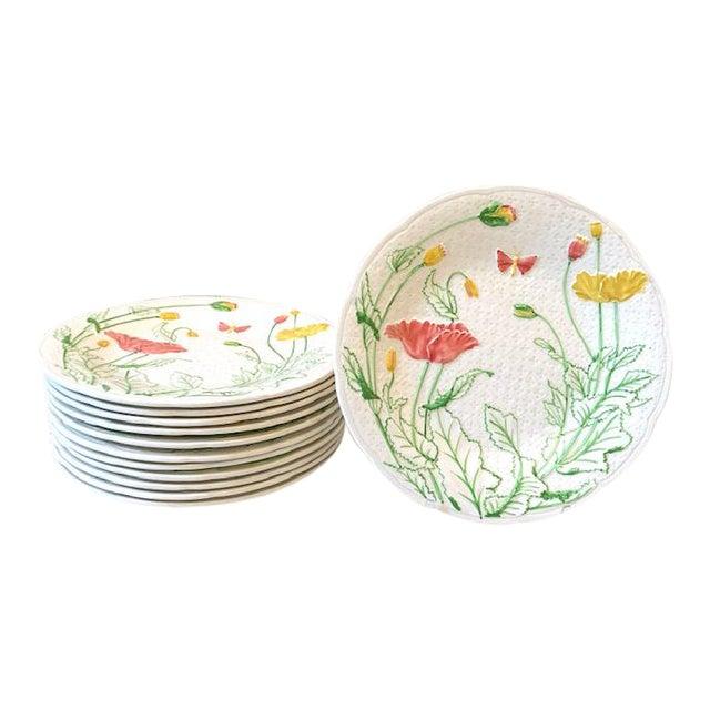 French Gien Desert/Salad Plates - Set of 12 For Sale