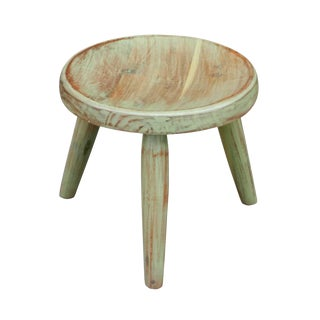Petite Green Painted Side Table