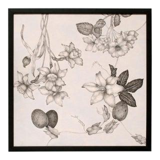 Fleurs Effilées #4, Fine Art Giclée on Canvas, Framed For Sale