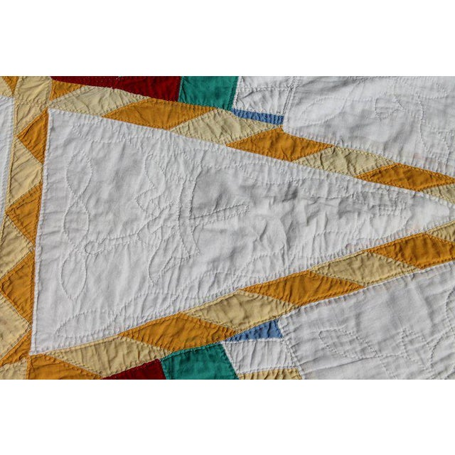 Adirondack Antique Northeastern Star Quilt For Sale - Image 3 of 11