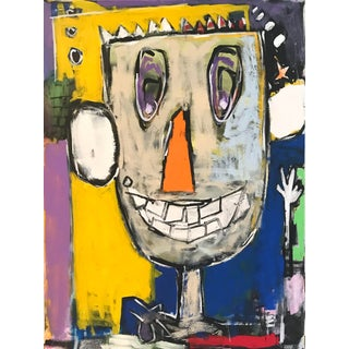 """Sarah Trundle Contemporary Abstract Painting, """"10-4 Good Buddy"""" For Sale"""
