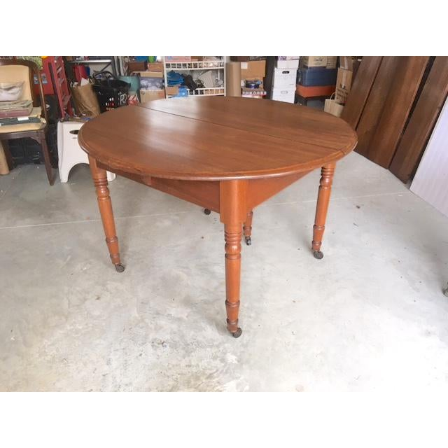 Antique Walnut Dining Table With Leaves For Sale - Image 9 of 13