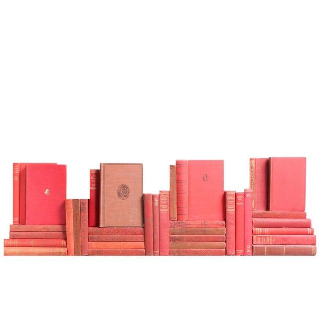 "Decorative Red Books: Pocket-Sized ""Mini"" Classics - Set of 35 For Sale"