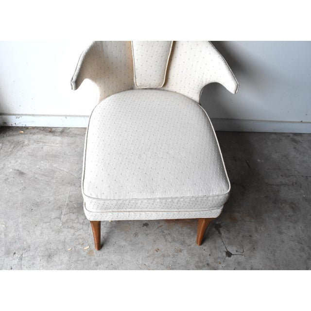 Cream Mid-Century Modern Arm Chair For Sale - Image 8 of 13