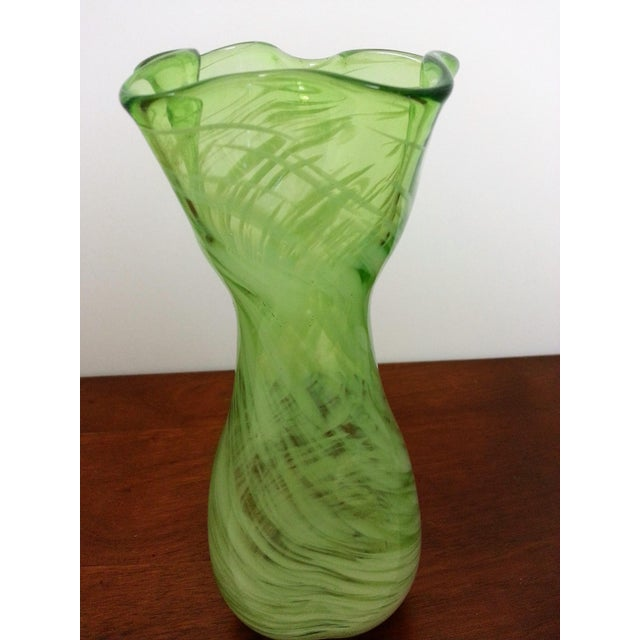 Mid-Century Murano-Like Art Glass Vase For Sale In Saint Louis - Image 6 of 6