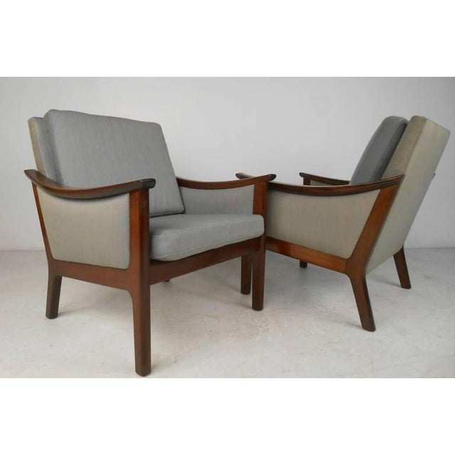 Mid-century Ole Wanscher Style Living Room Suite- Set of 3 For Sale - Image 9 of 10