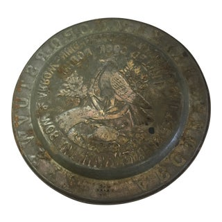 Antique Tin Alphabet Plate