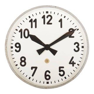Huge Station or Factory Clock by Chomutov For Sale