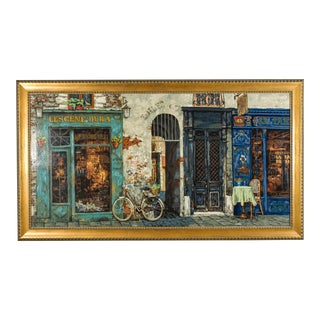 Les Cenes Embellished Print on Canvas by Victor Shvaiko, Framed For Sale