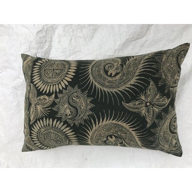 Asian Serpent Gray Batik Pillows - A Pair - Image 4 of 11