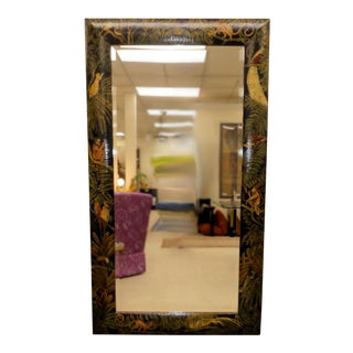 Maitland Smith West Indies Style Painted Mirror For Sale