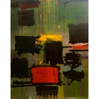 Contemporary Abstract Oil Painting on Canvas by Al Saif For Sale