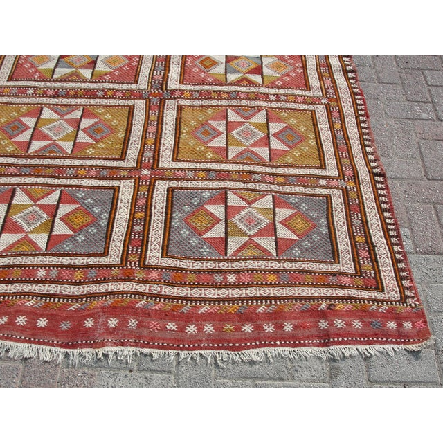 "Vintage Turkish Kilim Rug - 65.5′″ × 97"" For Sale - Image 9 of 13"