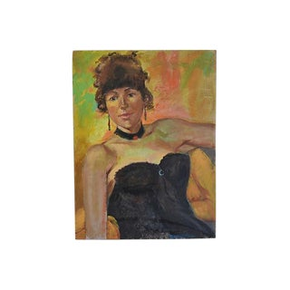 1950s Eliot Freedman Female Portrait Oil Painting