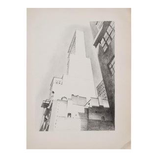 "1930s Manhattan Photogravure ""Delmonico Building"" by Charles Sheller For Sale"