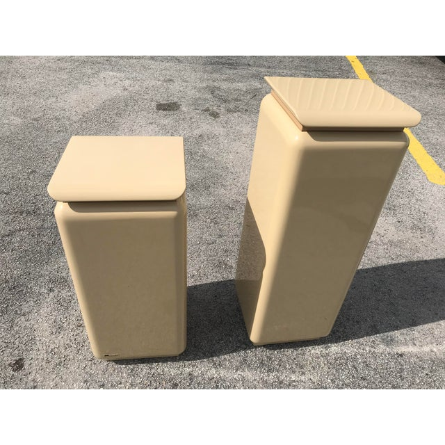 Mid Century Modern Rougie Pedestals- a Pair For Sale - Image 9 of 9