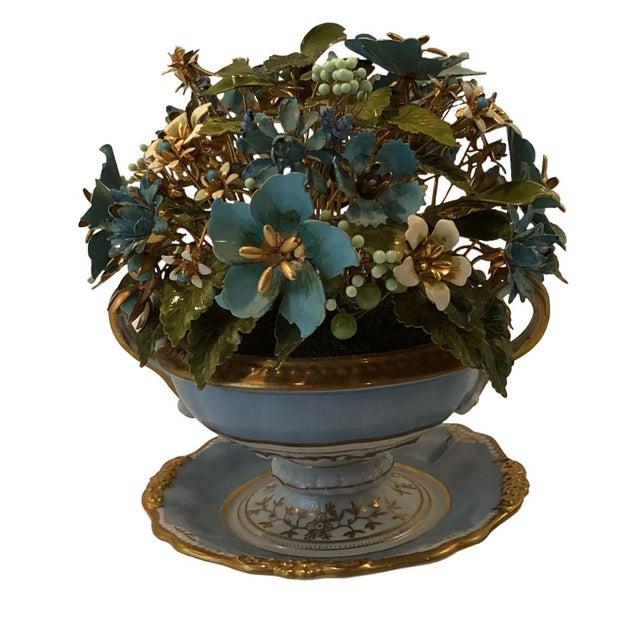 Fleurs Des Siecles in Porcelain Cachepot For Sale - Image 4 of 5