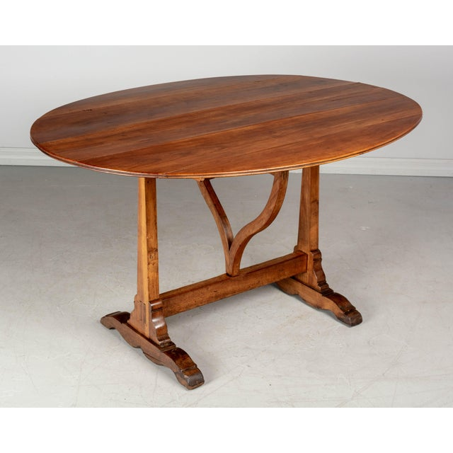 Early 20th Century French Oval Wine Tasting or Tilt-Top Table For Sale - Image 5 of 12
