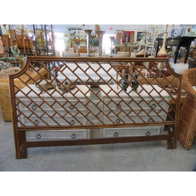 King Size Rattan Chippendale Headboard - Image 6 of 6