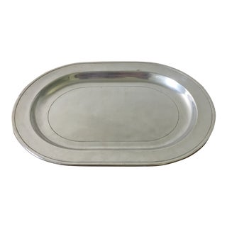 Mid 20th Century American Pewter Serving Tray For Sale