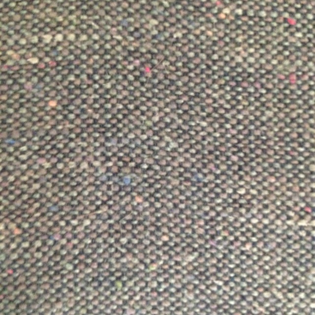 Mid 20th Century Mid-Century High Back Matte Gold & Blue Grey Tweed Swivel Chair For Sale - Image 5 of 5