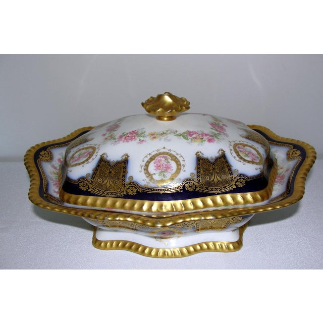 French Limoges Display Collector Casserole Covered Dish For Sale - Image 3 of 11