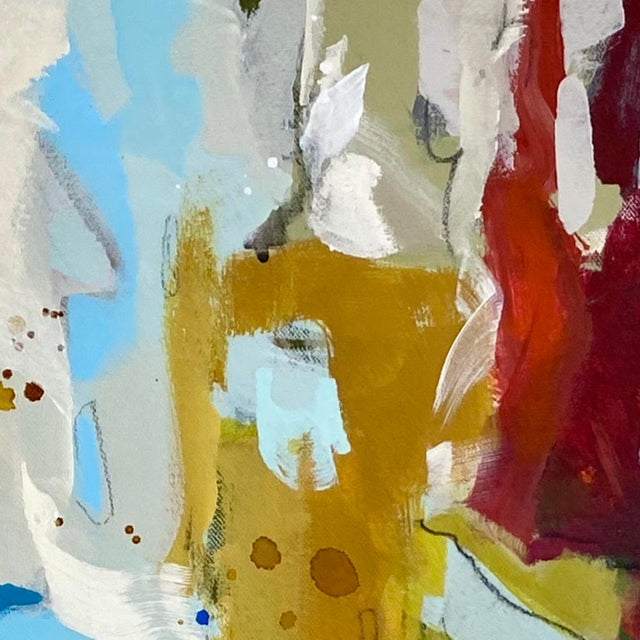 """Contemporary """"She's Subtle, Like a Jet Plane"""" - Original Mixed Media Abstract Painting by Gina Cochran For Sale - Image 3 of 7"""