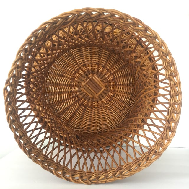 Vintage Bielecky Brothers Boho Rattan Round Coffee / Side Table For Sale - Image 9 of 13