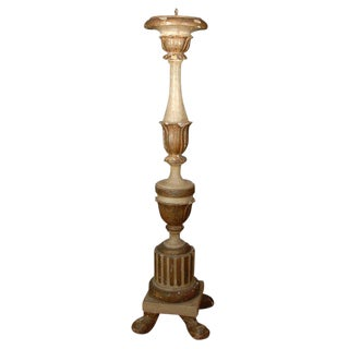 Large-Scale 19th C. Italian Candlestick For Sale