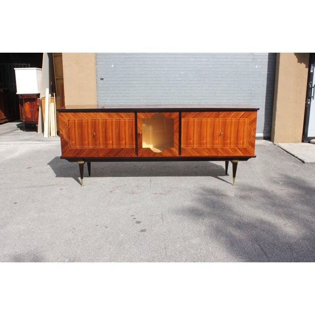 1940s Art Deco Light Macassar Ebony Sideboard / Buffet For Sale - Image 12 of 13