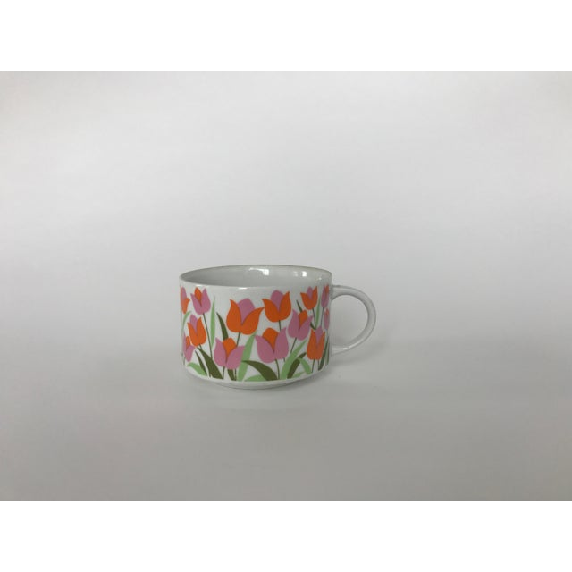 Ceramic Tulip Pattern Coffee / Tea Cup - Image 2 of 5