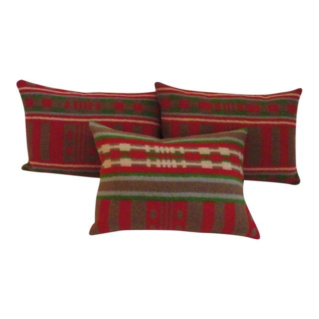 19th Century Horse Blanket Bolster Pillows For Sale