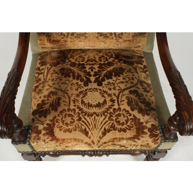 1890s Renaissance Revival-Style Armchair For Sale In Nashville - Image 6 of 10