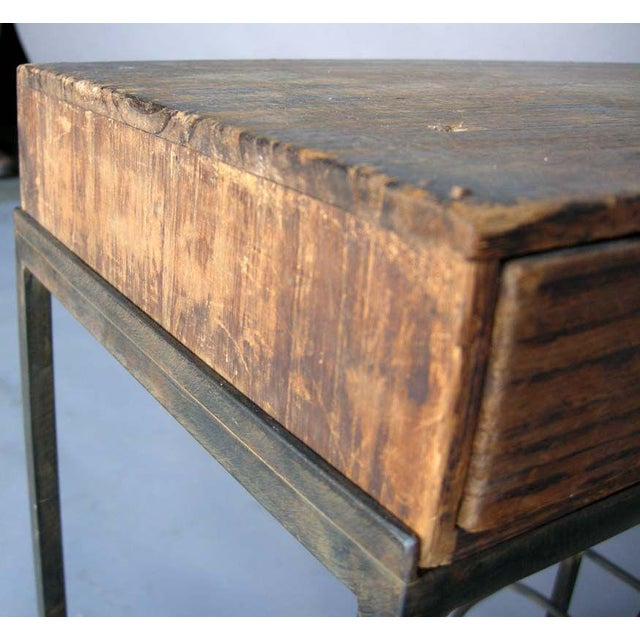 Antique Japanese Storage Box On Handwrought Iron Base For Sale In Los Angeles - Image 6 of 8