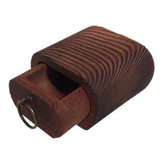 Vintage Redwood Jewelry Box