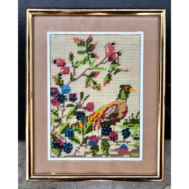 I love vintage needlepoints. The brighter or more elaborate, the better. This bird offers lots of character and a great...