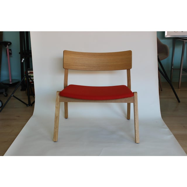 Frame 14 Stackable lounge chair by Verywood. Simple, comfortable Lounge with solid wood frame. Made in Italy. Natural Oak...