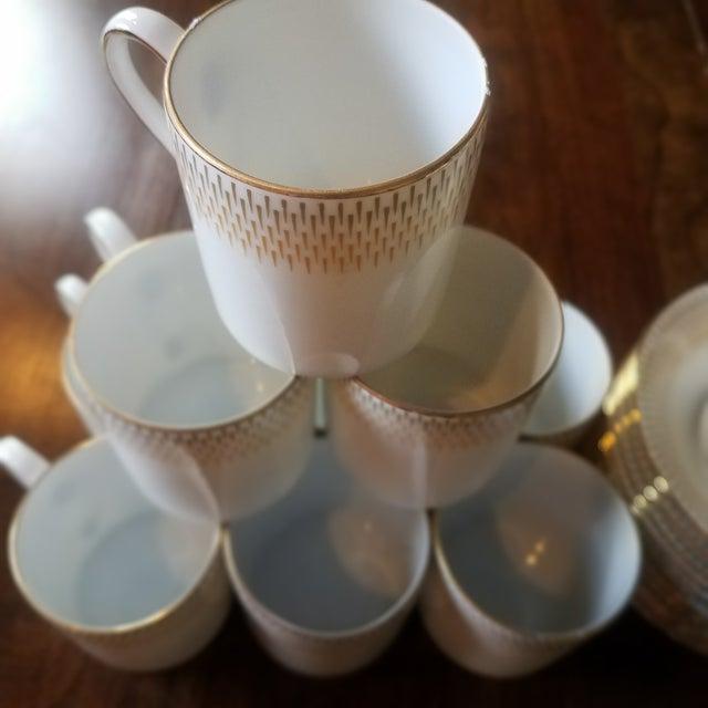 Vintage Royal Tettau Porcelain Espresso Cups & Saucers -Set of 10 For Sale - Image 4 of 5
