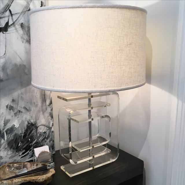Vintage Lucite Lamp - Image 3 of 8
