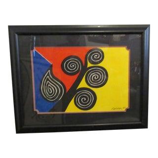 """Framed Print of """"Autumn Harvest"""" by Alexander Calder For Sale"""