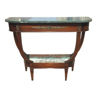 French Empire Marble Console Table With Plant Stand For Sale