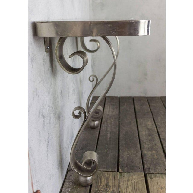 French Polished Steel Console - Image 7 of 11