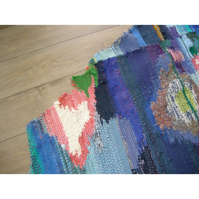 Bespoke Hand Woven Abstract Rug or Tapestry by Paulaschubatis For Sale In Detroit - Image 6 of 9