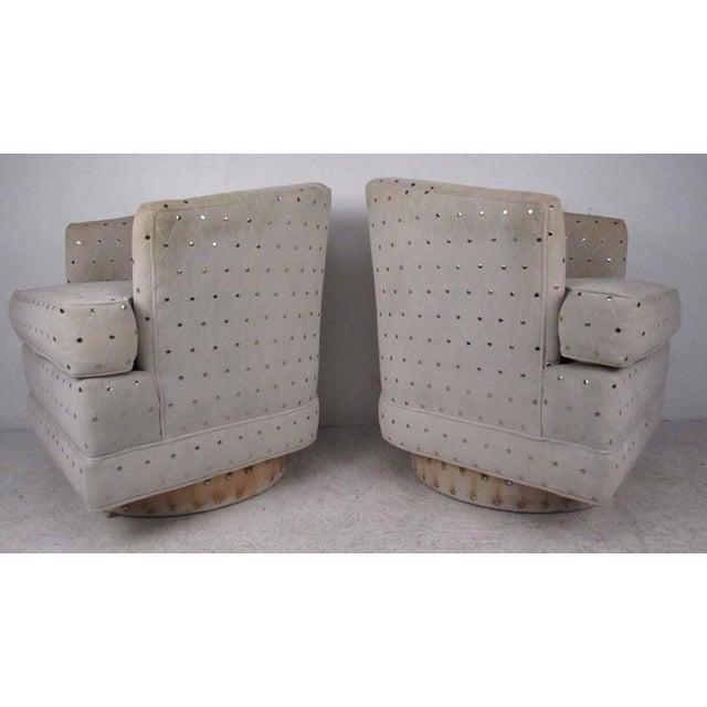 Astonishing Vintage Modern Barrel Back Swivel Chairs Theyellowbook Wood Chair Design Ideas Theyellowbookinfo
