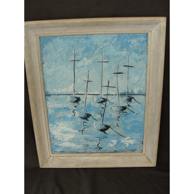 Mid-Century Modern Abstract Impressionist Painting - Image 2 of 7